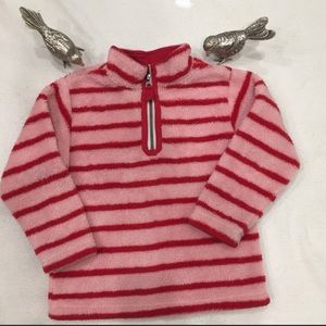 4/$25 Hanna Anderson Pink & Red Pull Over Fleece